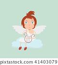 Boy Baby Cupid.  41403079