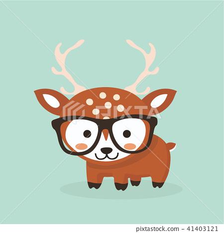 Cute deer cartoon. 41403121
