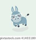 Cute donkey cartoon. 41403180