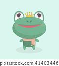 Little frog. Vector illustration of a cute little  41403446