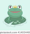 Little frog. Vector illustration of a cute little  41403448