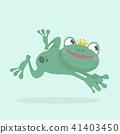 Little frog. Vector illustration of a cute little  41403450