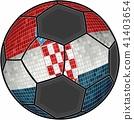 Croatia flag with soccer ball background 41403654