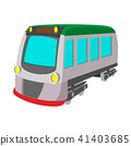 Train locomotive transportation railway icon 41403685