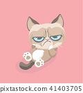 Cute grumpy cat. Vector Illustration. 41403705