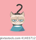 Cute grumpy cat. Vector Illustration. 41403712