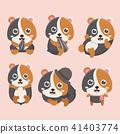 Cartoon hamster vector set. 41403774