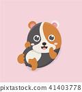 벡터, 만화, 동물 41403778