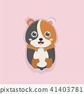 벡터, 만화, 동물 41403781
