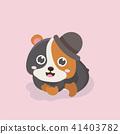 벡터, 만화, 동물 41403782