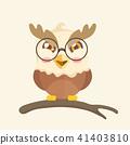 Cute cartoon hawk vector illustration. 41403810