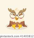 Cute cartoon hawk vector illustration. 41403812