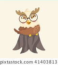 Cute cartoon hawk vector illustration. 41403813