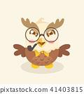 Cute cartoon hawk vector illustration. 41403815