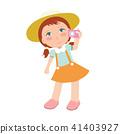 Cute girl vector illustration. 41403927