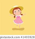 Cute girl vector illustration. 41403928
