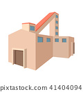 Fossil fuel power station cartoon icon 41404094