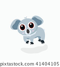 Vector illustration of cute little cartoon koala. 41404105