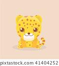 vector character leopard 41404252