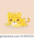 Cute Safari Leopard Cheetah Vector Illustration. 41404254