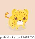 baby yellow leopard 41404255