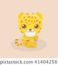baby vector leopard 41404256