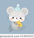 Cute mouse cartoon. 41404352