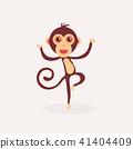 Cute monkey cartoon.  41404409