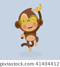 comic, vector, monkey 41404412
