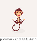 Cute monkey cartoon.  41404415