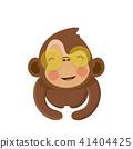comic, vector, monkey 41404425