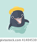 Vector illustration of a funny dolphin. 41404530
