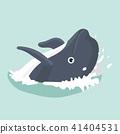 海豚 卡通 动物 41404531