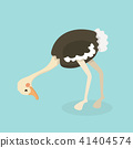 Cute Ostrich in flat style isolated. 41404574