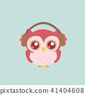 Owl wearing headphones. 41404608