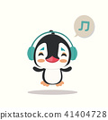 Vector illustration of a penguin on white backgrou 41404728