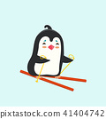 Vector illustration of a penguin on white backgrou 41404742