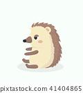 Cute porcupine cartoon vector illustration on past 41404865