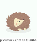 Cute porcupine cartoon vector illustration on past 41404866