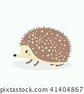 Cute porcupine cartoon vector illustration on past 41404867