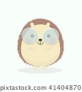 Cute porcupine cartoon vector illustration on past 41404870