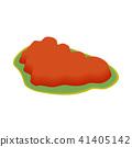 Ayers Rock, Australia icon, isometric 3d style 41405142