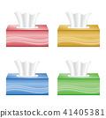 tissue box, white background, set 41405381