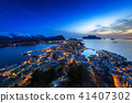 alesund, sunset, town 41407302