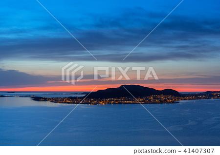 Valderoya island at sunset, Norway 41407307