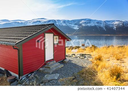 Beautiful scenery of west coastline in Norway 41407344