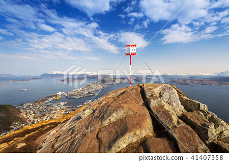 Top of the Sukkertoppen hill in Norway 41407358