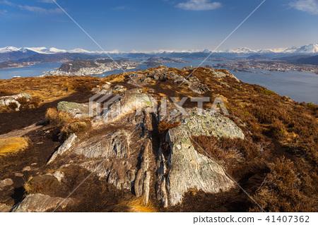 Beautiful scenery of west Norway coastline  41407362