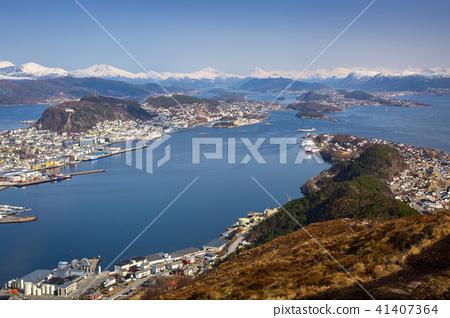 Beautiful scenery of west Norway coastline  41407364