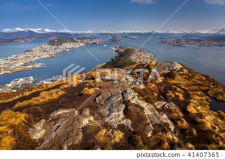 Beautiful scenery of west Norway coastline  41407365